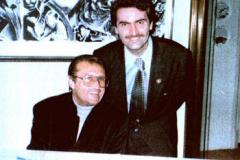 Con Tony Renis, Hotel Eden, Roma