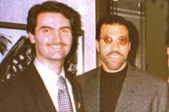 Con Lionel Richie, Hotel Eden, Roma